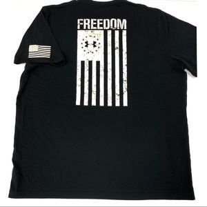 Under Armour Heatgear Freedom Flag USA Tshirt 2XL